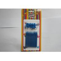 Wholesale Novelty Blue Glitter Birthday Candles 10 Pcs / 14.3g No Somke SGS Approval from china suppliers