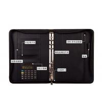 Buy cheap Hot Sale a4 leather custom personal portfolio organizer with calculator from wholesalers