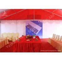 Quality Colorful Red and White Fabric Tent Structures , PVC Party Tent Aluminum Alloy Frame for sale