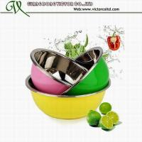 Wholesale Promotion 3 PCS colorful stainless steel mixing bowls 22cm to 32cm High Quality from china suppliers
