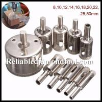 Wholesale Straight Shank Electroplated Diamond Drill Cutter / Glass Hole Saw Size 5-155mm from china suppliers