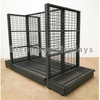 Wholesale Supermarket / Retail Gondola Shelving Black Heavy Duty Double Sided Display Stand from china suppliers