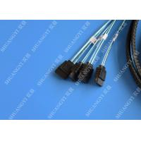 Quality SFF 8087 To 4 SATA Serial Attached SCSI Cable , 1.5m Internal 6gb SAS Fan Out Cable for sale