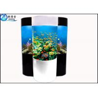 Wholesale Cylindrical Acrylic Aquarium Custom Fish Tanks With Super Translucent Material from china suppliers
