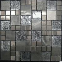 Wholesale Stone Mixed Crystal Glass Mosaic Tile, Stainless Steel Matt Mosaic Wall Tiles from china suppliers