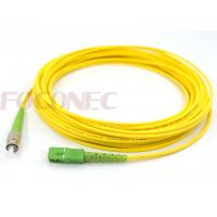 Wholesale Simplex SC APC - FC APC Single Mode Fiber Patch Cord , 3.0mm Fiber Cable Wire from china suppliers