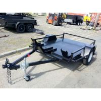 Wholesale Flatbed 8x6 Motor Bike / Motorcycle Transport Trailer Single Axle 1400kg Load from china suppliers