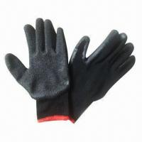 Wholesale Black Yarn Working Latex Gloves, Great Abrasion Resistance  from china suppliers