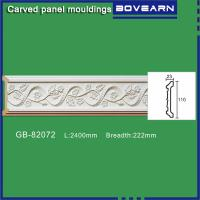 Wholesale Polyurethane carving wall Mouldings/ Chair rails/ white primed color customized OEM accepted from china suppliers