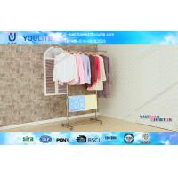 Wholesale Sliding Single Pole Portable Clothes Drying Rack Metal For Bedroom from china suppliers