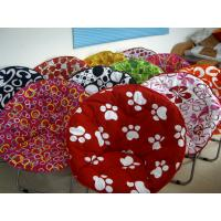 Wholesale Adult Size Cotton Cover Printed folding Moon Chair Easy to Carry Removable and Washable from china suppliers