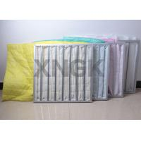 Wholesale High Efficiency Air Bag Filter Yellow Color , Carbon Filter Bags 3600CBM / H Flow Rate from china suppliers