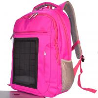 Wholesale Pink Womens Hiking Solar Charging Backpack With Charger Built In from china suppliers