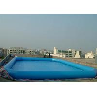 Wholesale Commercial Grade Inflatable Water Pool , Above Ground Portable Pools Fire-Resistant Material from china suppliers