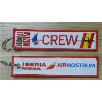 Wholesale Crew Iberia Air Nostrum Logo Iberia Regional Air Nostrum Fabric Embroidery Pilot Keychain from china suppliers