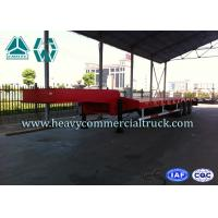 Quality SINOTRUK HUAWIN 3 Axles Semi Low Bed Trailer Extendable High Tensile Steel Q345B for sale