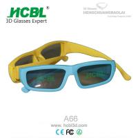Wholesale Disposable Polarized Master Image 3D Glasses Blue Yellow For Kids / Children from china suppliers