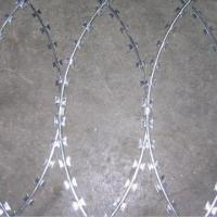 Wholesale High-quality Galvanized Razor Barbed Wire with Diameter of BWG12 to BWG20 from china suppliers