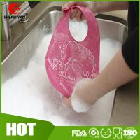 Wholesale BPA Free Easy Washing Silicone Baby Bibs Patterns Custom Logo Printed from china suppliers