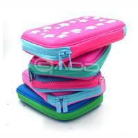 Wholesale High Quality PU Leather Hard Pencil Case With Zipper / Custom Pen Bags with Embossed Logo from china suppliers