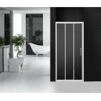 Wholesale Grey Wheel Bathroom Shower Doors 3 Panel Sliding Tri Panel Shower Door Screen from china suppliers