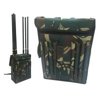 Wholesale Wide Band Backpack Mobile Signal Jammer 8 Fiberglass Epoxy Antennas For Military from china suppliers