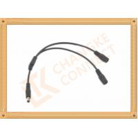 Wholesale OEM / ODM DC12V custom power cables Male To Female 1 To 2 Y Type from china suppliers