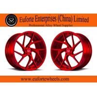 Wholesale red brush 18-22 inch custom forged wheels for Lamborghini Huracan/Lamborghini Gallardo Spyder from china suppliers