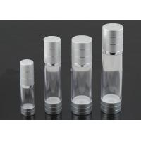 Wholesale Silver Transparent Plastic Airless Bottle 30ml For Face Cream / Eye Cream from china suppliers