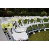 Buy cheap Americana white banquet plastic wedding resin folding chair white resin wimbledon chair for outdoor wedding/rental from wholesalers