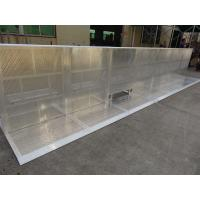 Quality 30kg Crowd Control Barriers Easy Assemble Concert Pedestrian Silver Barrier for sale