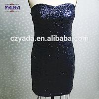 China Latest sexy plus size club sequins fashion lady plain women office dress for sale on sale