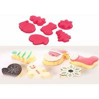 Wholesale Red Food Grade Silicone Birthday Cake Molds , Silicone Food Molds For Freezers from china suppliers