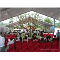 Buy cheap 10X15 M White UV Protective Clear Span Fabric Buildings , Clear Span Marquee from wholesalers
