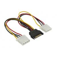 Wholesale 12inch SATA Splitter cable 15pin Male to Dual 4pin molex cable from china suppliers