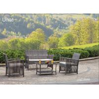 Wholesale Steel Frame Patio Furniture Table And Chairs 4 Piece , Wicker Patio Furniture Sets from china suppliers