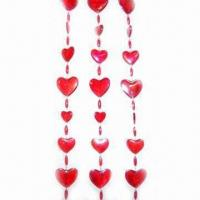 Wholesale Heart shaped beads curtain, different colors and sizes are available, OEM orders are welcome from china suppliers