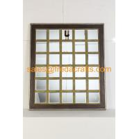Buy cheap China supplier mordern design grid shape wood frame wall mirror for home decor from wholesalers