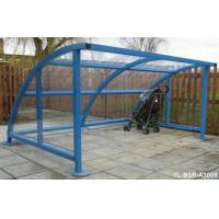 Buy cheap Custom Blue Iron Metal Display Stands Bicycle Rack In Public from wholesalers