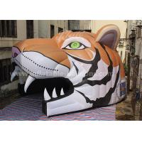 Wholesale Oxford Cloth Inflatable Party Tent Inflatable Tiger Head Tunnel For Sports Games from china suppliers