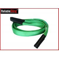 Wholesale Green Ply Polyester Webbing Sling For Lifting Loads  , Eye And Eye Sling from china suppliers