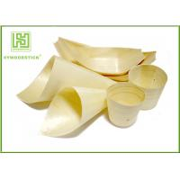 Wholesale New Type Wooden Sushi Boat Pinewood Food Cones For Party Snacks from china suppliers