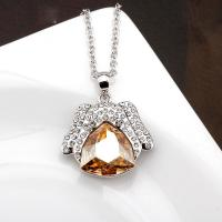 Wholesale 140305 Beagle puppy champagne choker necklaces buy animal jewelry-november birthstone gifts-ladies fashion jewellery from china suppliers