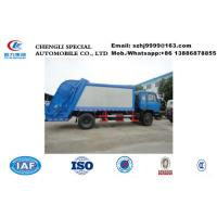 Buy cheap Factory selling best price Dongfeng 153 6 wheels 190hp diesel 12m3 compact garbage trucks refuse rubbish trash truck from wholesalers