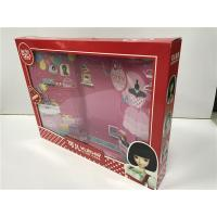 Red Pink Doll Packaging Boxes Glossy Varnish Flexible Height / Weight / Capacity