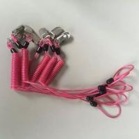 Wholesale Custom special OEM rose red spring coiled leash w/ metal alligator clip and loop end from china suppliers