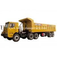 Rated load 100 tons Off road Mining Dump Truck Tipper  309kW engine power drive multi axles with 50m3 body cargo Volume