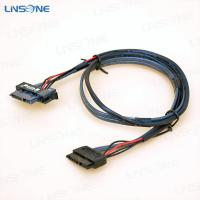 Wholesale Male to male SATA 7+6pin cable with latch from china suppliers