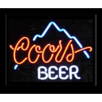 Wholesale Business Orange / Blue Neon Beer Signs Neon Sculptures With Metal Chain from china suppliers