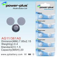 Wholesale high capacity AG Series battery button cell AG11/361A0/1.5V OEM  from china suppliers